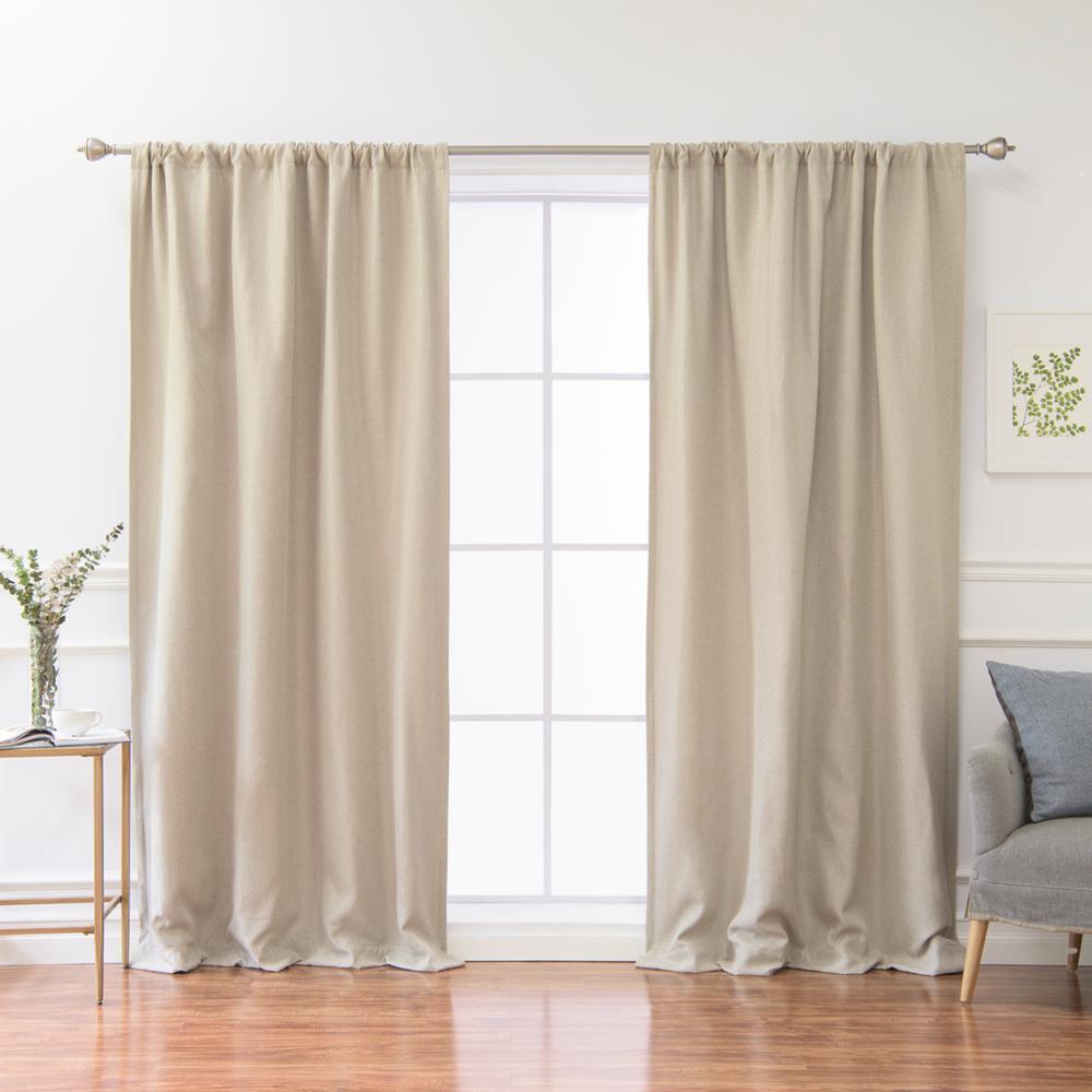 best home fashion 84 in l polyester faux linen room. Black Bedroom Furniture Sets. Home Design Ideas