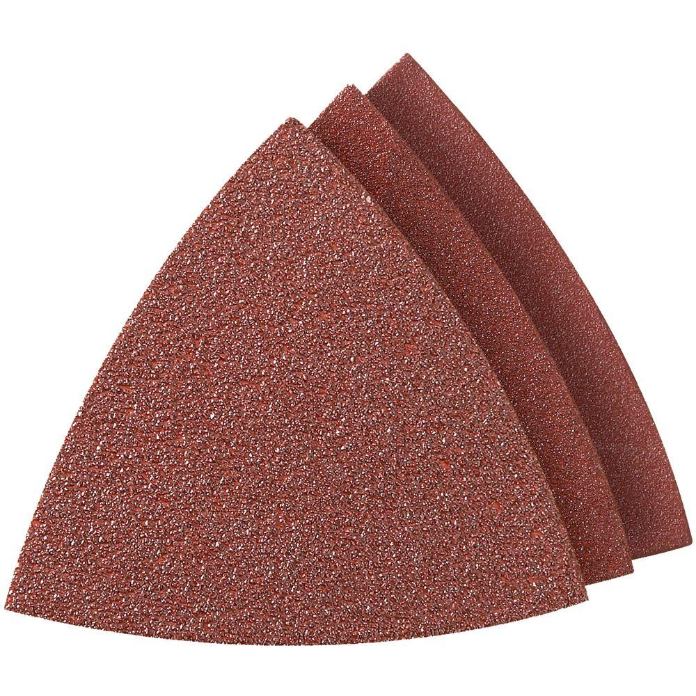 Dremel Multi-Max Assorted Grit Oscillating Tool Sandpaper for Metal, Wood, Rust, Plaster, or Old Finish Removal (6-Pack)