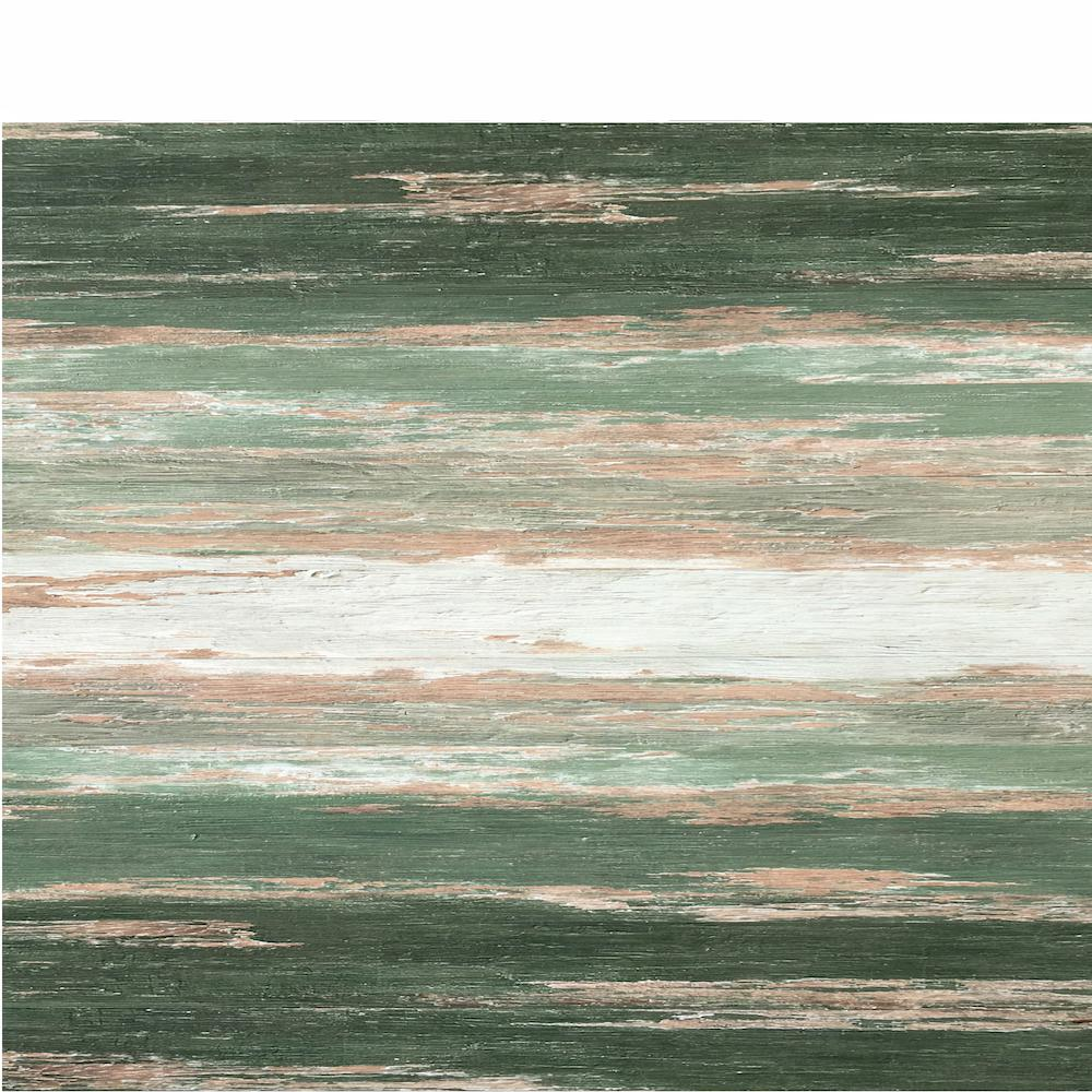 Deco Products COLORS Floor and Wall DIY Old Green Tree Aged 6 in. x 36 in. Painted Style Glue Down Luxury Vinyl Plank(45 sq. ft./case)