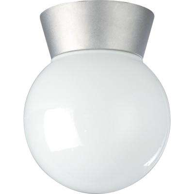 Tony Satin Aluminum 1-Light Outdoor Flush Mount