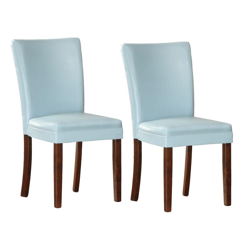 HomeSullivan Light Blue Parson Dining Chair (Set of 2)-DISCONTINUED