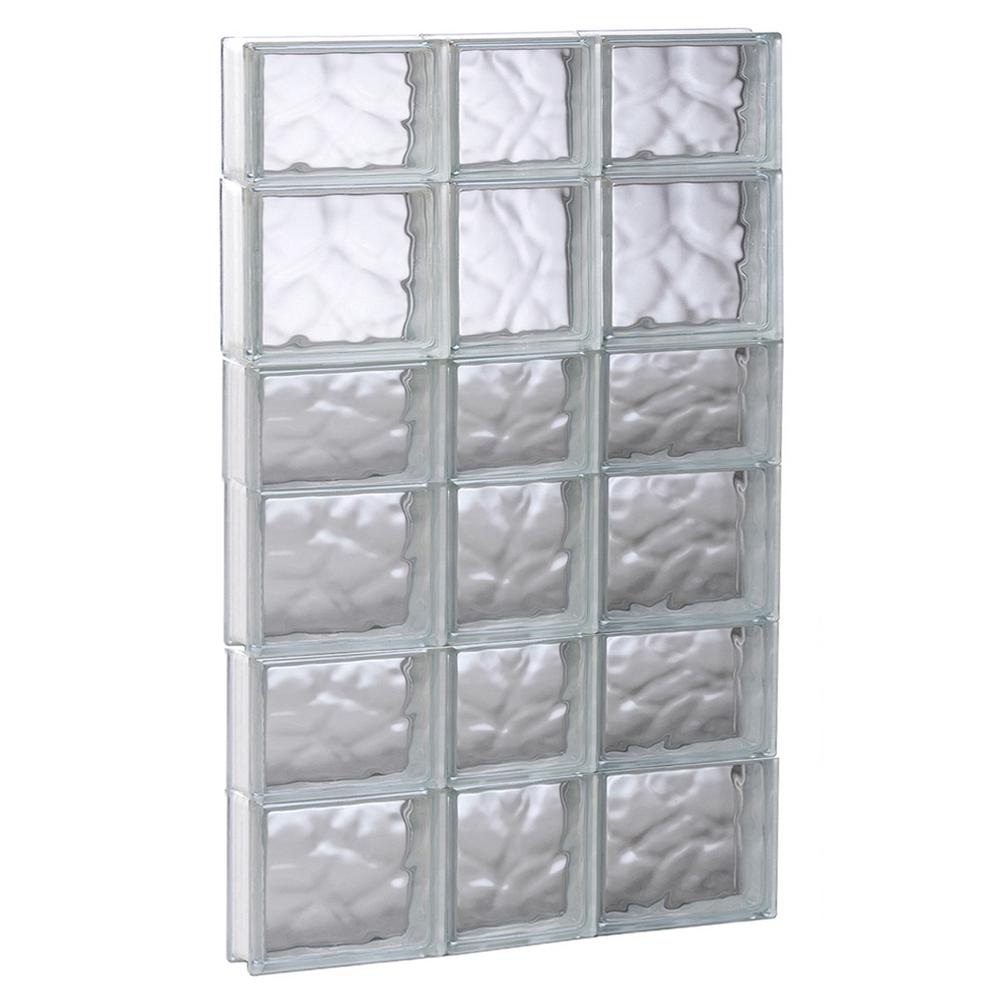 Clearly Secure 21.25 in. x 40.5 in. x 3.125 in. Frameless Wave ...