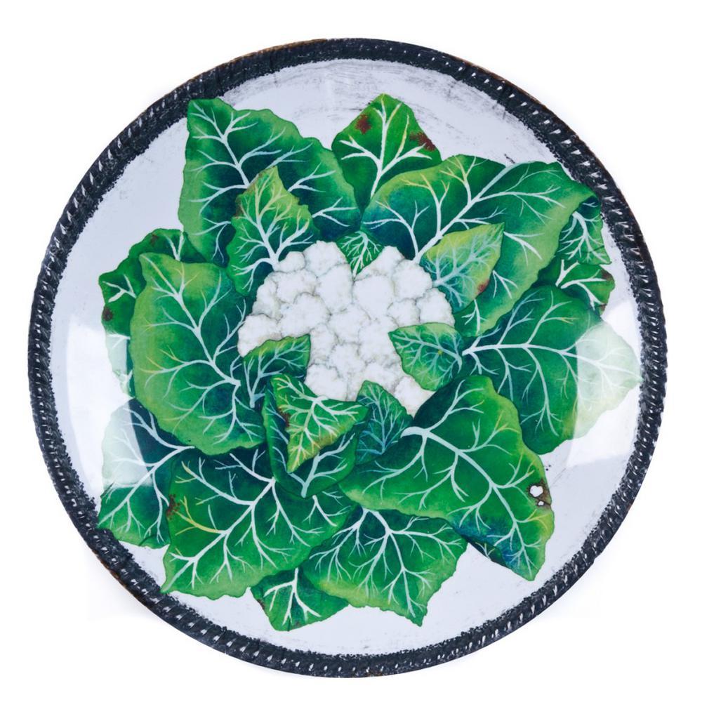 Verdura Green/White Melamine Cauliflower Bowl