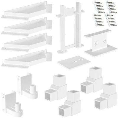 4 ft. x 3 ft. White Modular Vinyl Fence Gate Kit