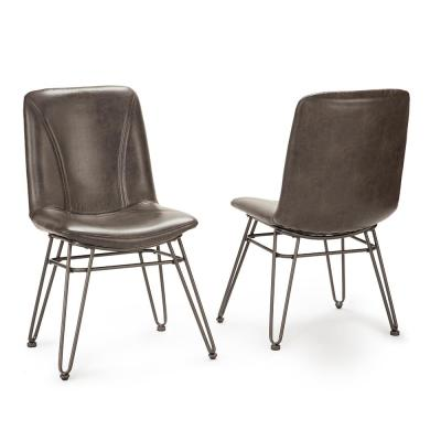 Derek Gray Polyester Contemporary Side Chair (Set of 2)