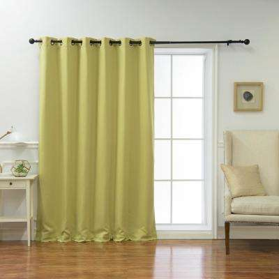 Wide Basic 80 in. W x 96 in. L Blackout Curtain in Sage