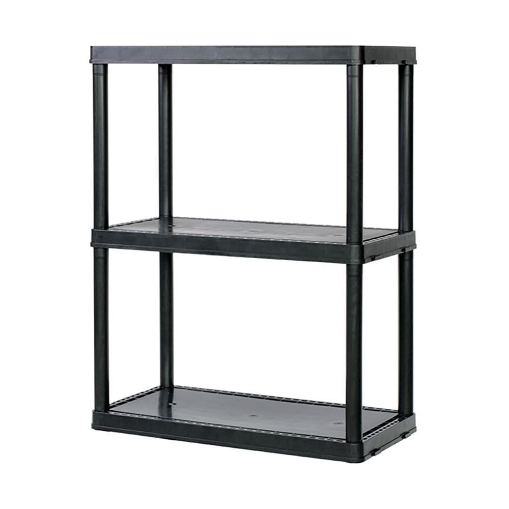 24 in. x 33 in. x 12 in. Solid Light-Duty 3-Shelf Storage Shelving Unit