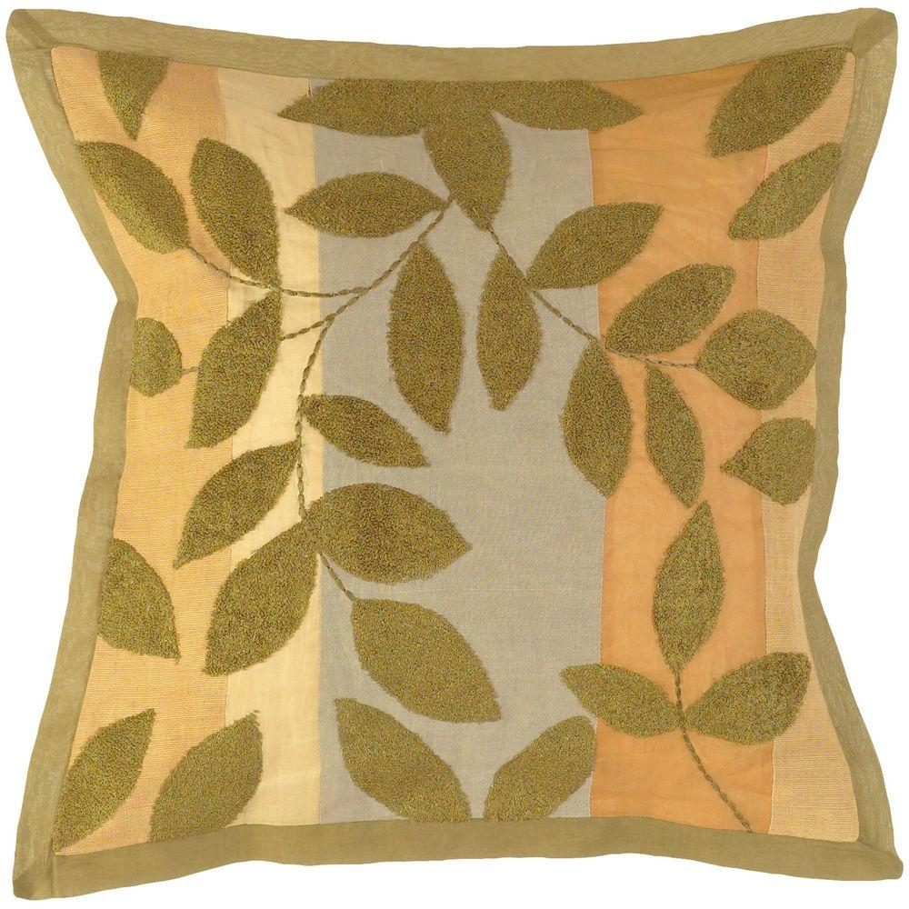 LeavesG2 18 in. x 18 in. Decorative Pillow