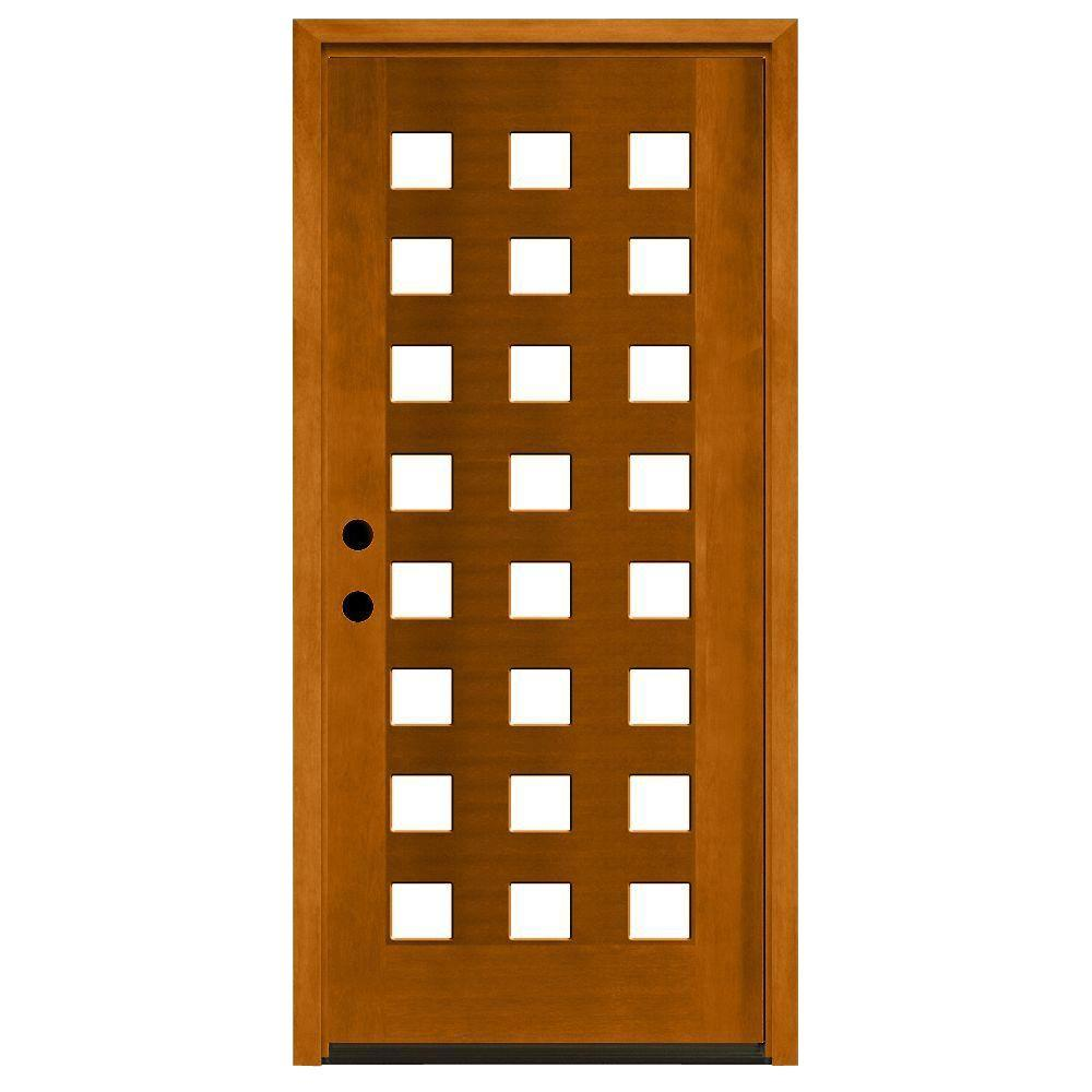 Merveilleux Modern 24 Lite Obscure Stained Mahogany Wood Prehung Front Door M6424 HY 4LH    The Home Depot