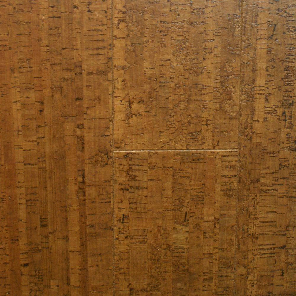Take Home Sample Burnished Straw Cork Flooring 5 In