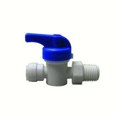 Quick Connect 3/8 in. x 3/8 in. Plastic MIP Straight Valve