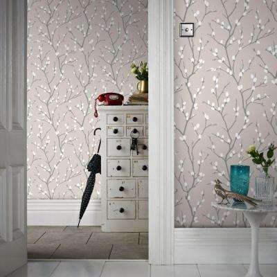 Taupe and Charcoal Karma Removable Wallpaper