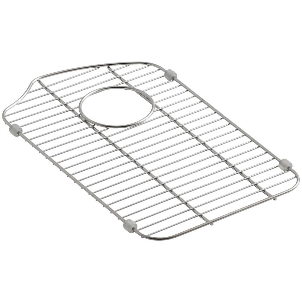 Peachy Kohler Octave 11 3125 In X 18 3125 In Kitchen Sink Bowl Rack In Stainless Steel For Right Small Bowl Best Image Libraries Thycampuscom
