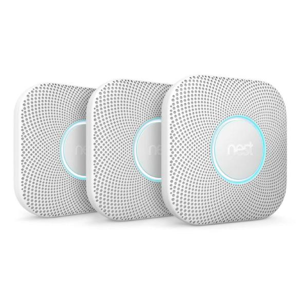 Nest Protect Wired Smoke and Carbon Monoxide Detector (3-Pack)