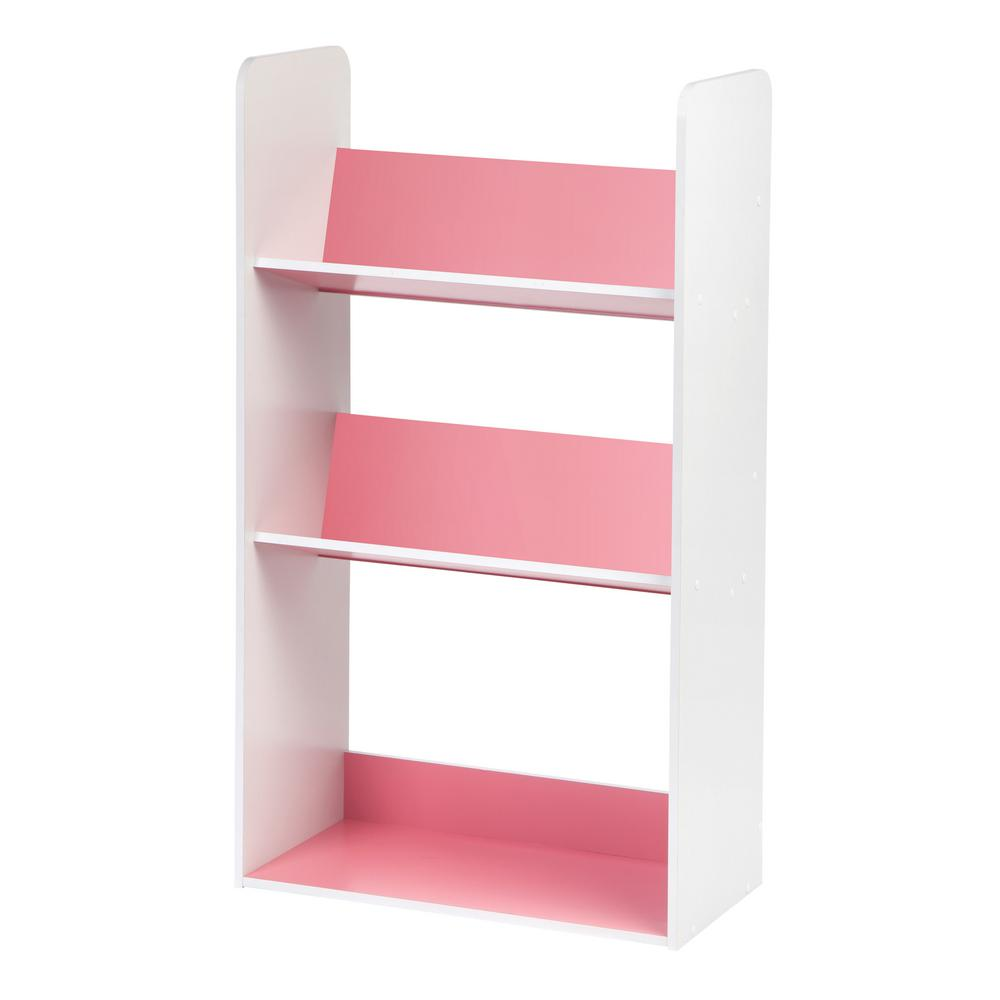 White and Pink 3-Tier Book Cart
