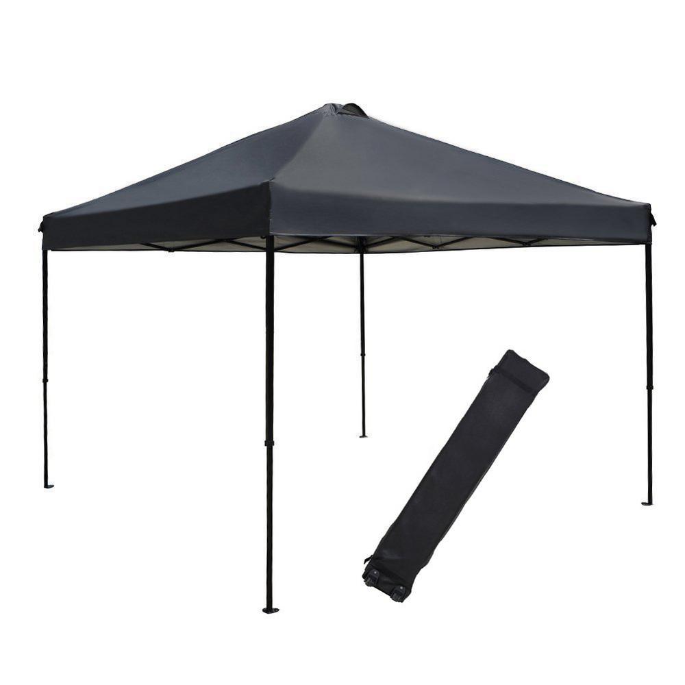 10 ft. x 10 ft. Dark Grey Pop Up Outdoor Canopy Tent