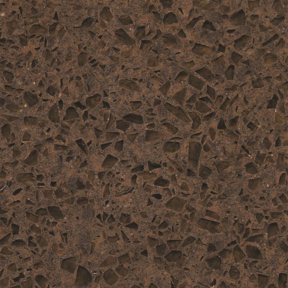 Silestone 2 in. Quartz Countertop Sample in Coffee Brown