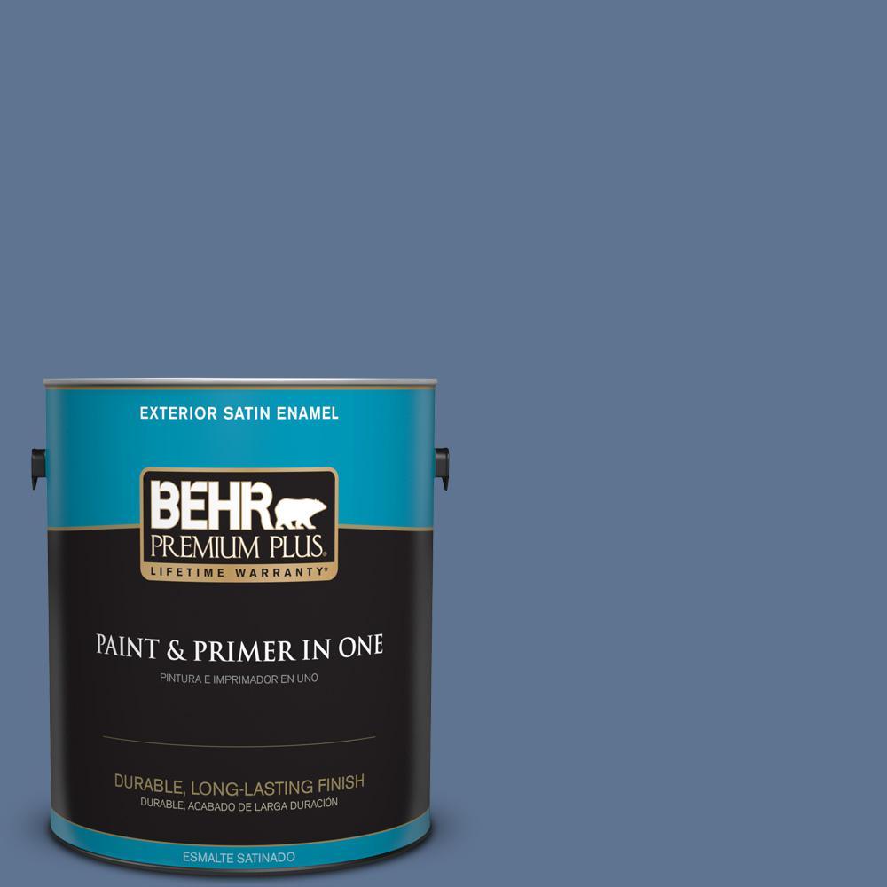 1 gal. #PPU14-18 Laguna Blue Satin Enamel Exterior Paint