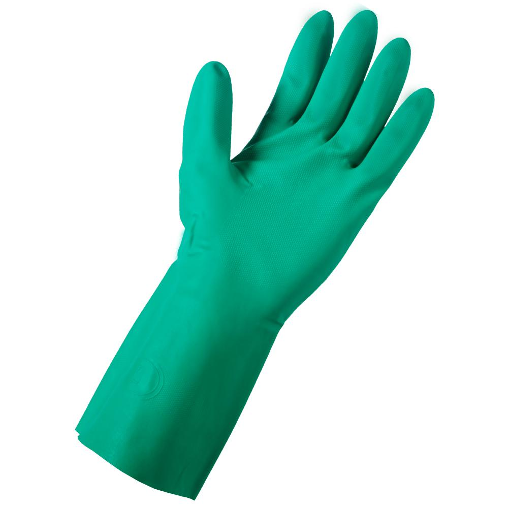 Latex-Free Reusable Nitrile Cleaning Gloves, Large