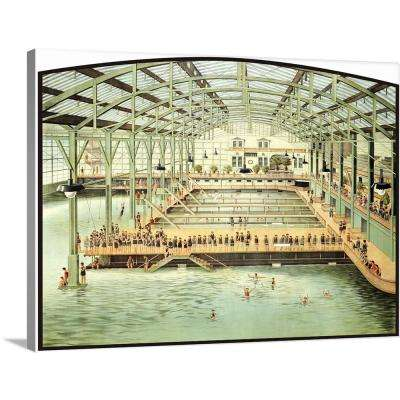 """40 in. x 30 in. """"Sutro Bath House San Francisco Vintage Advertising Poster"""" by ArteHouse Canvas Wall Art"""