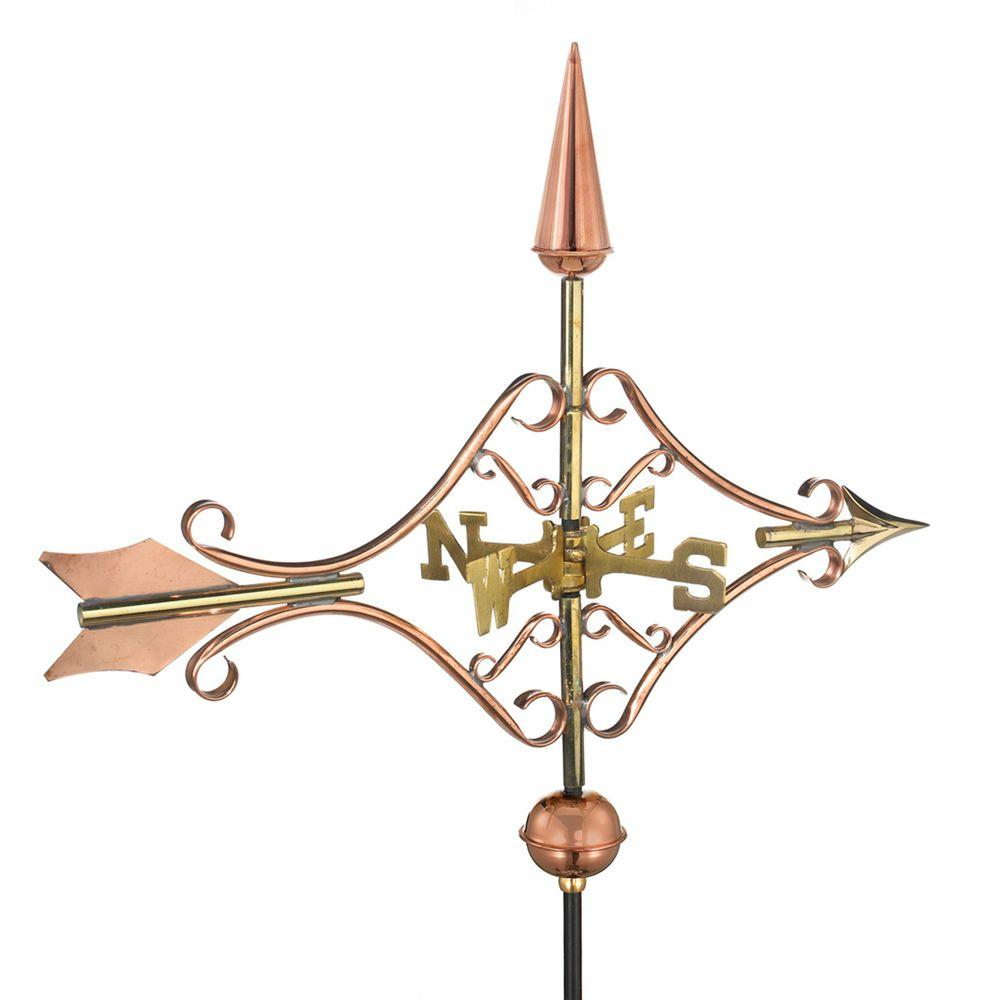 Good Directions Victorian Arrow Garden Weathervane   Pure Copper With Garden  Pole