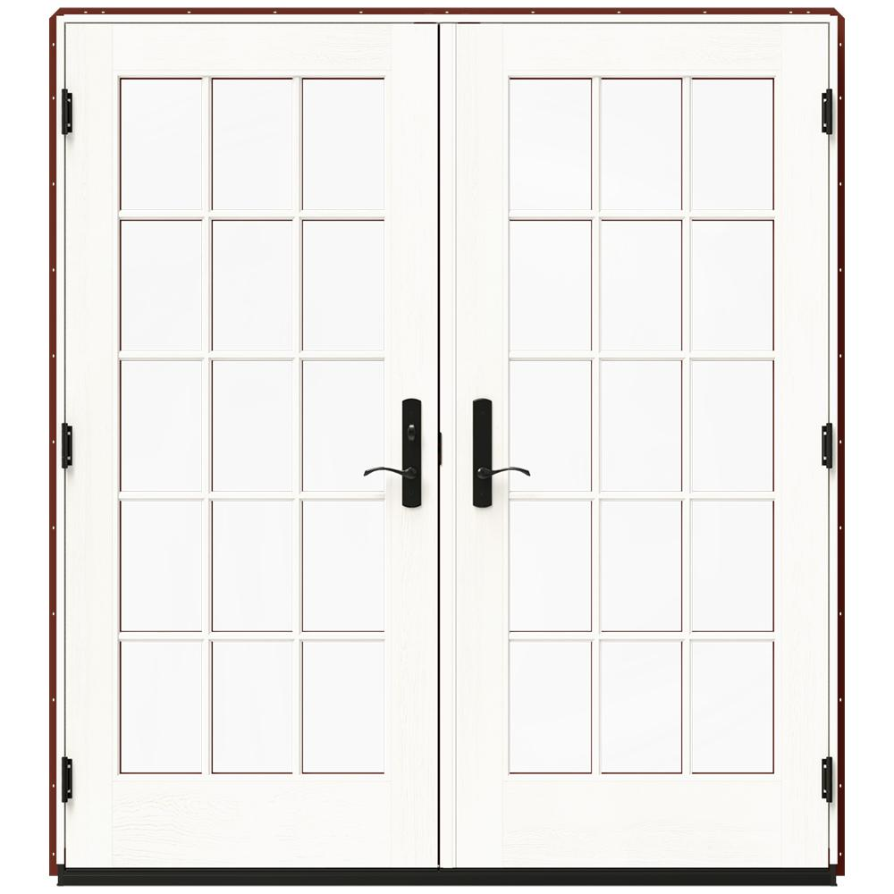 Jeld Wen 72 In X 80 In W 4500 Red Clad Wood Right Hand