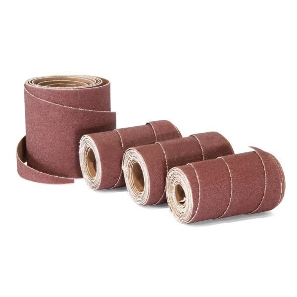 Wen 120 Grit 10 In Pre Cut Ready To Wrap Drum Sander Sandpaper 4 Pack 65910sp120 The Home Depot