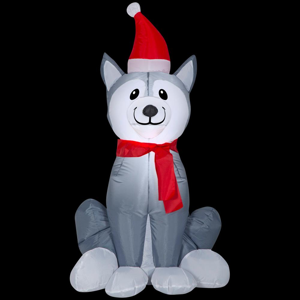 Home Accents Holiday Airblown Husky -SM (HD)