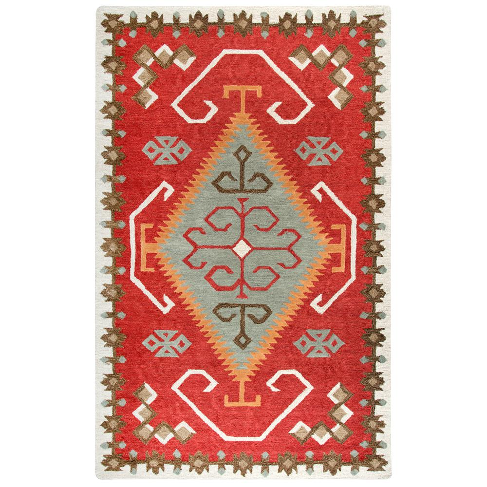 Durango Red/Multi-Color 8 ft. x 11 ft. Native American Area Rug