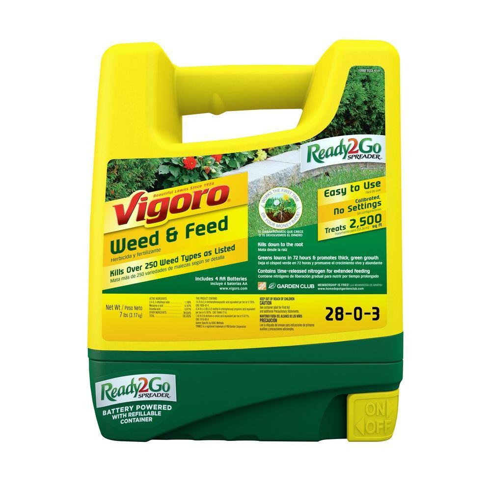 Vigoro 2500 sq. ft. Ready2Go Weed and Feed Spreader
