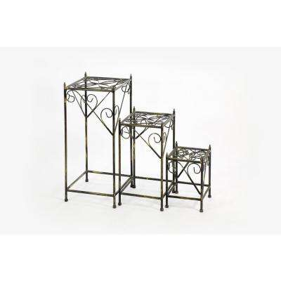 Cast Iron Square Plant Stand (Set Of 3)