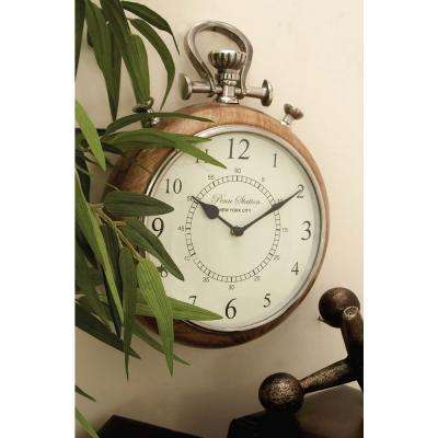 White and Brown Traditional Analog Wall Clock