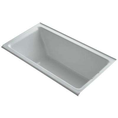 Tea-for-Two 5.5 ft. Rectangular Drop-in Right Drain Soaking Bath Tub in Ice Grey