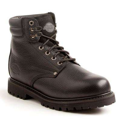 Raider Men Size 10.5 Black Steel Toe Leather Work Boot
