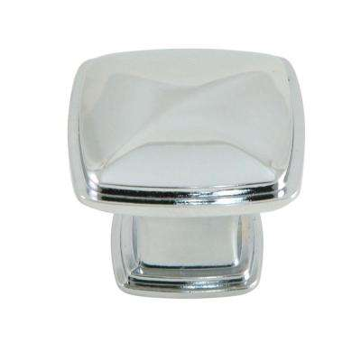 Providence 1-1/4 in. Polished Chrome Square Cabinet Knob (25-Pack)