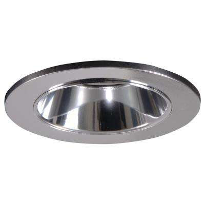 Polished Chrome Recessed Ceiling Light Shower Trim With Regressed Lens And  Clear Reflector