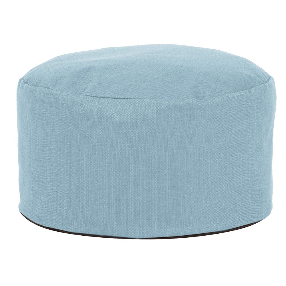 Coco Sapphire Blue Square Pouf Ottoman-20-20 - The Home Depot