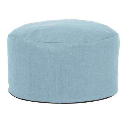 Sterling Breeze Blue Foot Pouf Ottoman