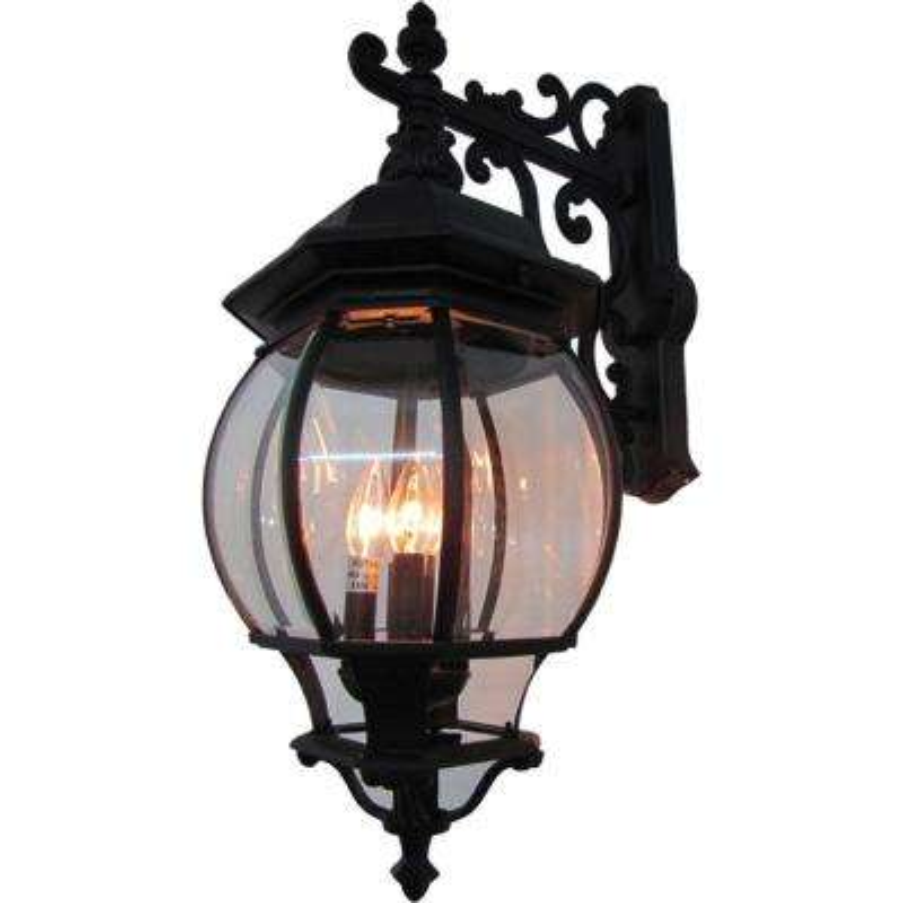 4-Light Rust Outdoor Wall Lantern Sconce