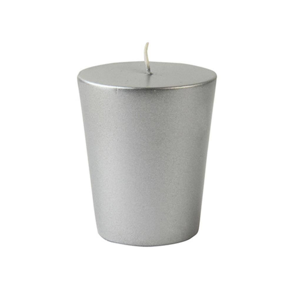 Zest Candle 1.75 in. Metallic Silver Votive Candles (12-Box)