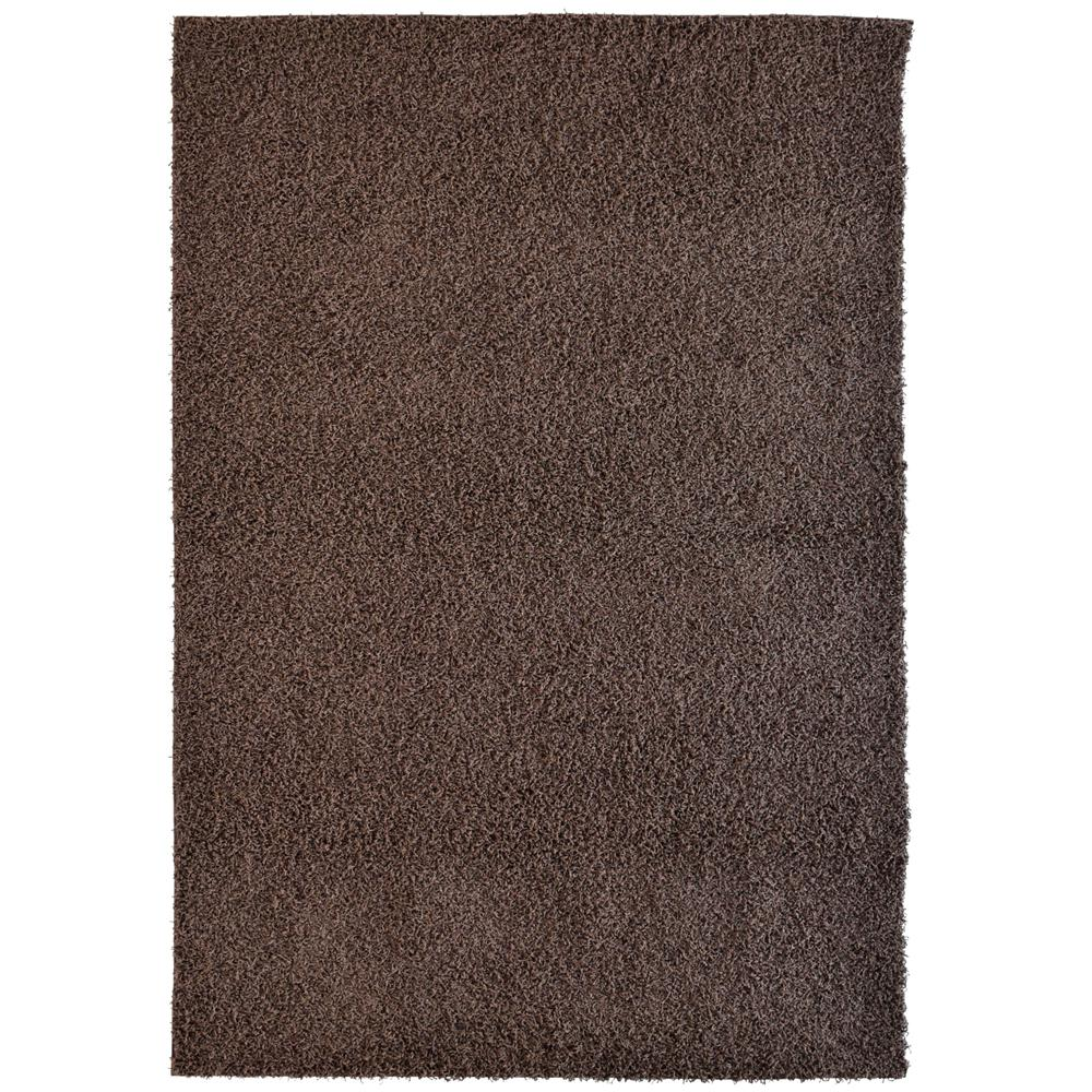 Custom Shag Brown 6 ft. x 8 ft. Indoor Area Rug