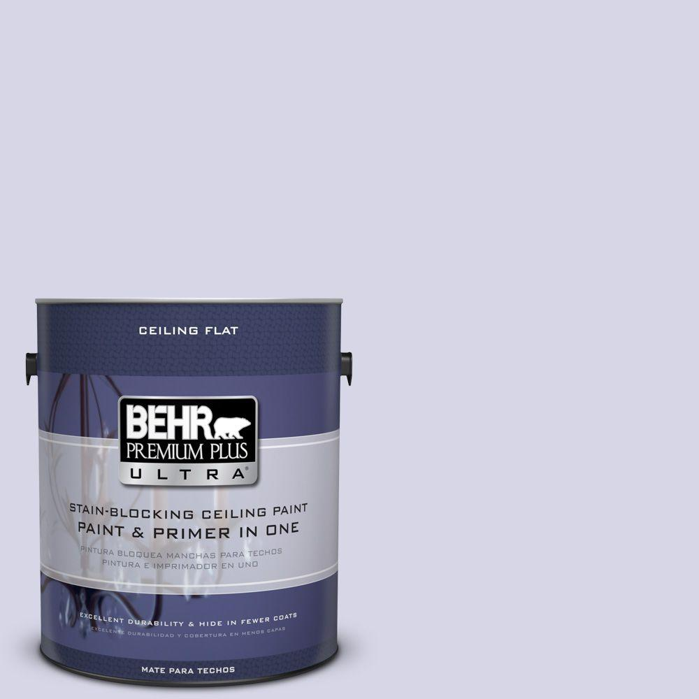 BEHR Premium Plus Ultra 1-gal. #PPU16-8 Ceiling Tinted to Hint Of Violet Interior Paint