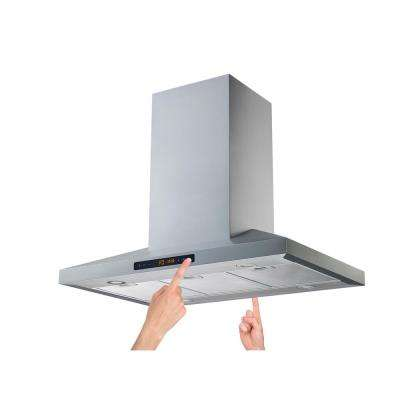 36 in. Convertible Island Range Hood in Stainless Steel with Aluminum Filters 800 CFM and 2 sides 5 Speed Touch Control