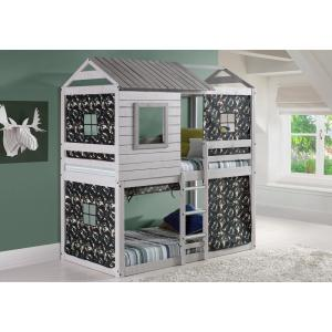 Donco Kids Deer Blind Green Camo Tent Twin Bunk Bed Loft 1370