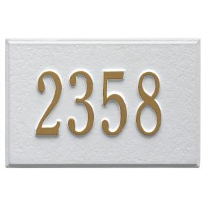 wall mailbox plaque in whitegold whitehall products - Whitehall Products