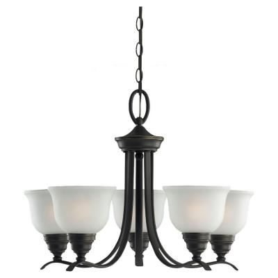 Wheaton 5-Light Heirloom Bronze Single-Tier Chandelier