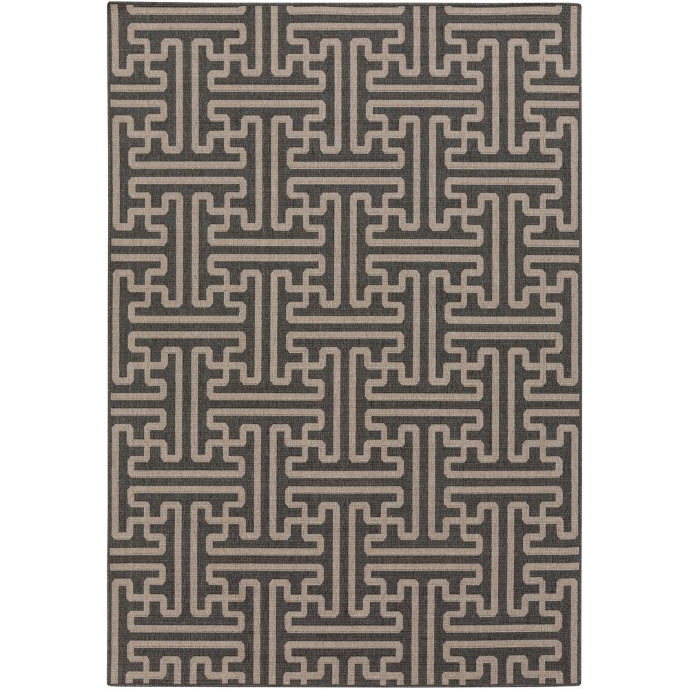 Balmhorn Black 2 ft. x 5 ft. Indoor/Outdoor Area Rug