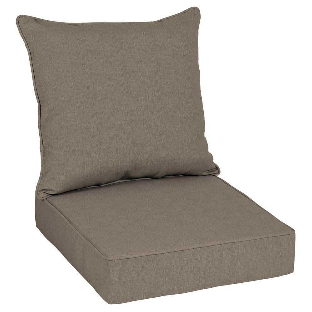 24 x 24 Sunbrella Cast Shale Deep Seating Outdoor Lounge Chair Cushion