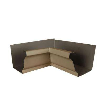 6 in. Natural Clay Aluminum Inside Box Gutter Miter