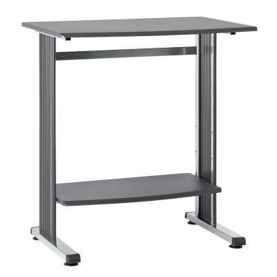 40 in. H x 36.75 in. W x 26.5 in. D Charcoal Beveled Edge Standing Computer Desk